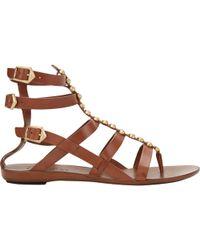 Sartore Studded Flat Gladiator Sandals - Lyst