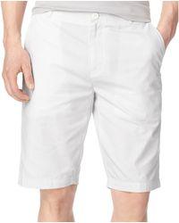 Calvin Klein Horizontal Striped Oxford Shorts - Lyst