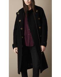 Burberry Oversize Textured Wool Coat - Lyst