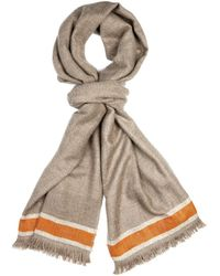 Me and Kashmiere - Morena Contrast-Stripe Cashmere Scarf - Lyst