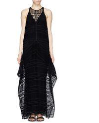 Erdem 'Shawnee' Greenhouse Lace Sleeveless Maxi Dress black - Lyst
