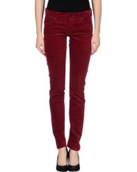Mother Purple Casual Pants - Lyst