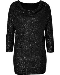Donna Karan New York Draped Cashmere Sequin Tunic - Lyst