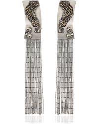 Lucia Odescalchi Tactile Pixel Fringe Earrings - Lyst