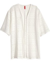 H&M   Cardigan With Burnout Pattern   Lyst