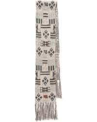 Bickley + Mitchell - Geometric Fringe Scarf - Lyst