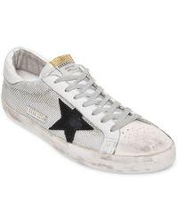 Golden Goose Deluxe Brand Superstar Mesh  Leather Sneakers - Lyst