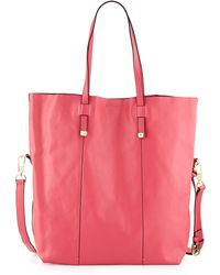 Halston Heritage North-South Leather Tote Bag - Lyst