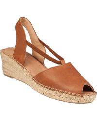 Andre Assous Dainty Wedge Espadrille Tan Leather brown - Lyst