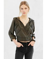 Silence + Noise Cinched & Coated Anorak Jacket - Lyst