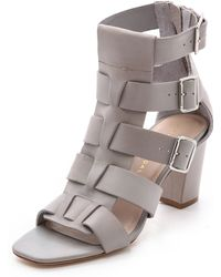 Loeffler Randall Maia Fisherman Sandals Cool Grey - Lyst