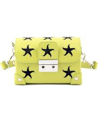 Holly Fulton - X Petek 1855 Lime & Pink Small Wiggle Trunk Bag - Lyst