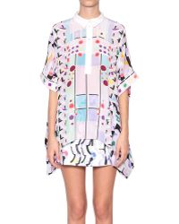 Peter Pilotto Printed Silk Blouse - Lyst
