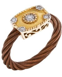 Charriol Women'S Celtique Rose 18K Gold And Bronze-Tone Diamond .9Tcw Ring gold - Lyst