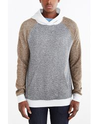 BDG - Speckled Colorblocked Pullover Hoodie Sweatshirt - Lyst