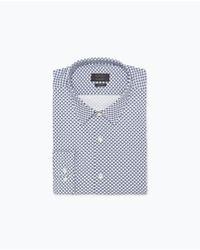Zara Gingham Check Shirt blue - Lyst