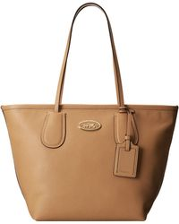 Coach Crossgrain Leather Taxi Zip Tote - Lyst