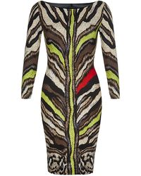 Just Cavalli Coloured Tiger Print Dress - Lyst