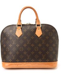 Louis Vuitton Brown Alma Handbag - Lyst