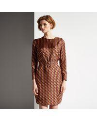 Bally Printed Silk Twill Dress - Lyst