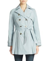 Laundry by Shelli Segal Double Breasted Trench Coat - Lyst