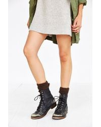 Soxiety - Cable-Knit Fur Knee-High Sock - Lyst