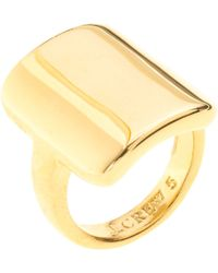 J.Crew Curved Tag Ring - Lyst