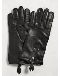 John Varvatos - Nappa Leather Zip Glove - Lyst