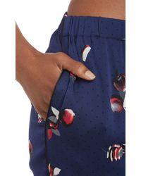 Piamita - Piped Apple-Print Pj Shirt - Lyst