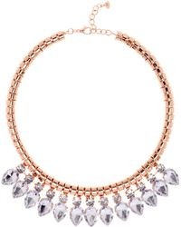 Ted Baker - Emari Crystal Chain Necklace - Lyst