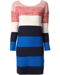 Sonia By Sonia Rykiel Striped Fitted Sweater Dress - Lyst