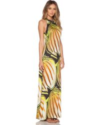 Agua de Coco - Yellow Shoal Maxi Dress - Lyst