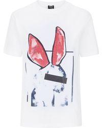 McQ by Alexander McQueen Liesa Bunny Print Boyfriend T-Shirt - Lyst