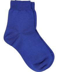 Maria La Rosa Solid Ankle-Length Socks - Lyst
