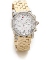 Michele Sport Sail Large 5 Link Watch Strap - Gold - Lyst