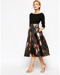 Coast - Chloey Jacquard Dress In Black - Lyst