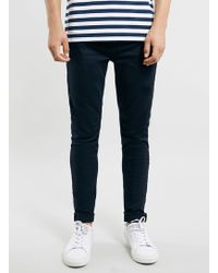 Topman Navy Morgan Stretch Skinny Jeans - Lyst