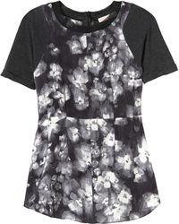 Rebecca Taylor Short Sleeve Ghost Flower Top - Lyst