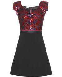 Miu Miu Red Silkblend Dress - Lyst