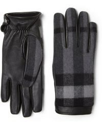 Burberry Wool-blend Check Gloves - Lyst