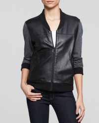 AG Adriano Goldschmied Jacket - Channel Leather Bomber - Lyst