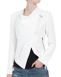 Helmut Lang Cropped Zipper Jacket - Lyst