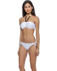 Shoshanna White Diamond Burnout Bikini Top - White - Lyst