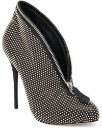 Alexander McQueen | Studded Leather Zip-detail Booties | Lyst