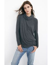 Velvet By Graham & Spencer Carlana Cozy Jersey Roll Neck Top - Lyst