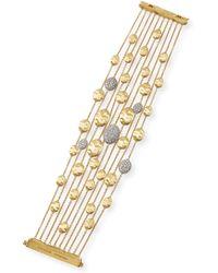 Marco Bicego 18k Gold Diamond Siviglia Multi-strand Bracelet - Lyst
