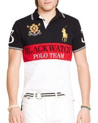 Ralph Lauren Black Watch Custom-Fit Color-Blocked Polo Shirt - Slim Fit multicolor - Lyst