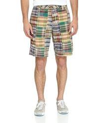 Tailor Vintage Multicolor Madras Patchwork Shorts - Lyst