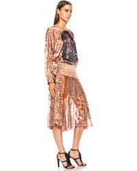 Preen Saber Silk-blend Dress - Lyst