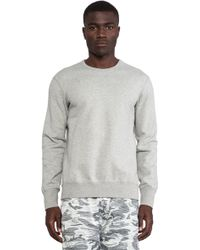 Reigning Champ Gray Core Crewneck - Lyst